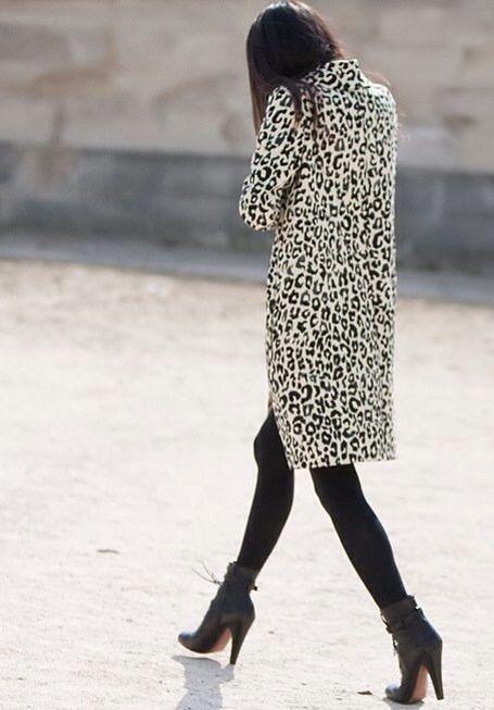 γυναικείο λεοπάρ παλτό