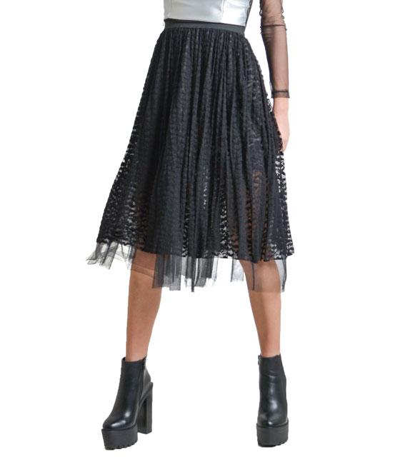 Φούστα απο δαντέλα με εσωτερικό τουλι ρούχα   bottoms   φούστες