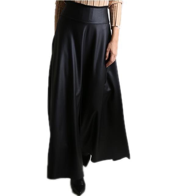 Φούστα μακριά μαύρη δερματίνη home   ρούχα   bottoms   φούστες