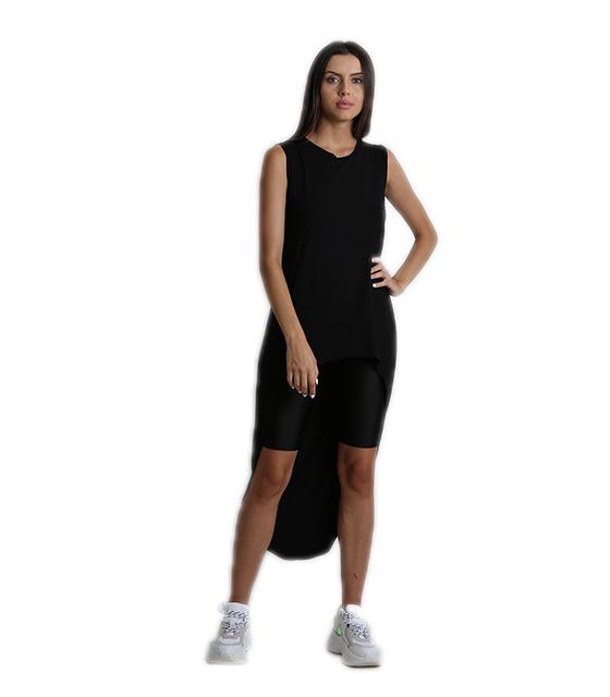 Μπλούζα μαύρη με ουρά ρούχα   μπλούζες   top   t shirt   αμάνικα