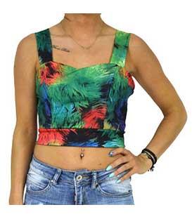 Μπούστο εμπριμέ πράσινο ρούχα   μπλούζες   top   τοπάκια   μπουστάκια
