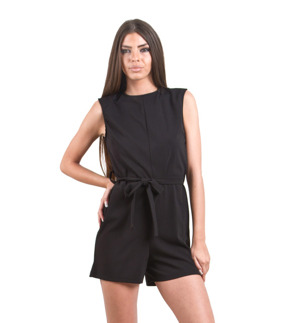 Ολόσωμη φόρμα σορτς μαύρη ρούχα   ολόσωμες φόρμες