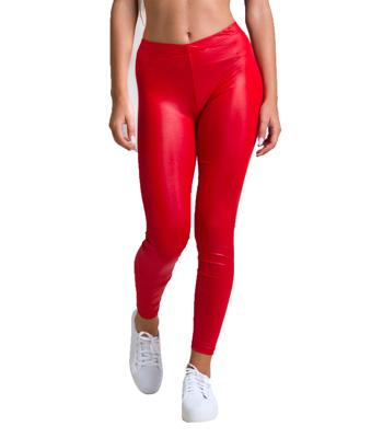 Ψηλόμεσο κολάν μεταλλικό κοκκινο ρούχα   bottoms   κολάν