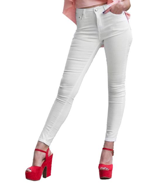 Jean λευκό ρούχα   bottoms   τζιν