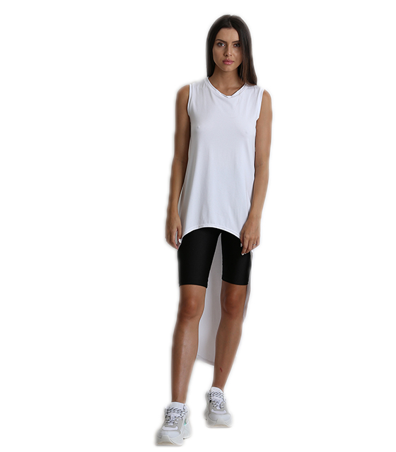 Μπλούζα με ουρά λευκό ρούχα   μπλούζες   top   t shirt   αμάνικα