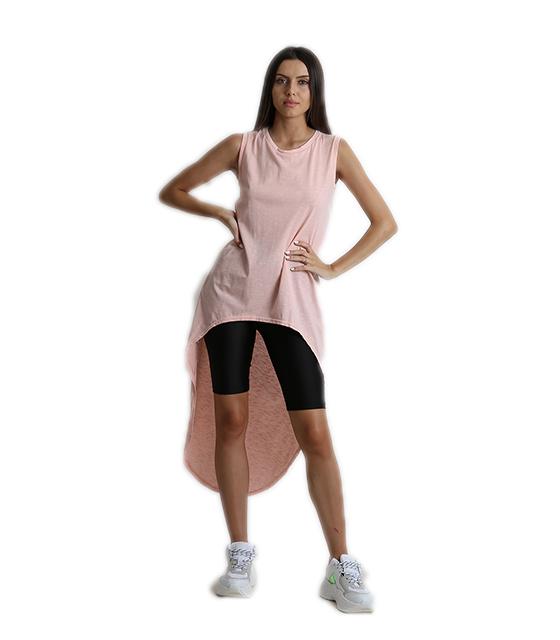 Μπλούζα με ουρά ροζ ρούχα   μπλούζες   top   t shirt   αμάνικα