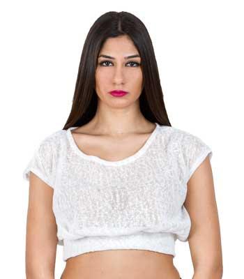 Πλεκτό τοπ λευκό ρούχα   μπλούζες   top   τοπάκια   μπουστάκια