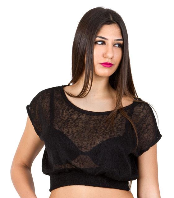 Πλεκτό τοπ μαύρο ρούχα   μπλούζες   top   τοπάκια   μπουστάκια