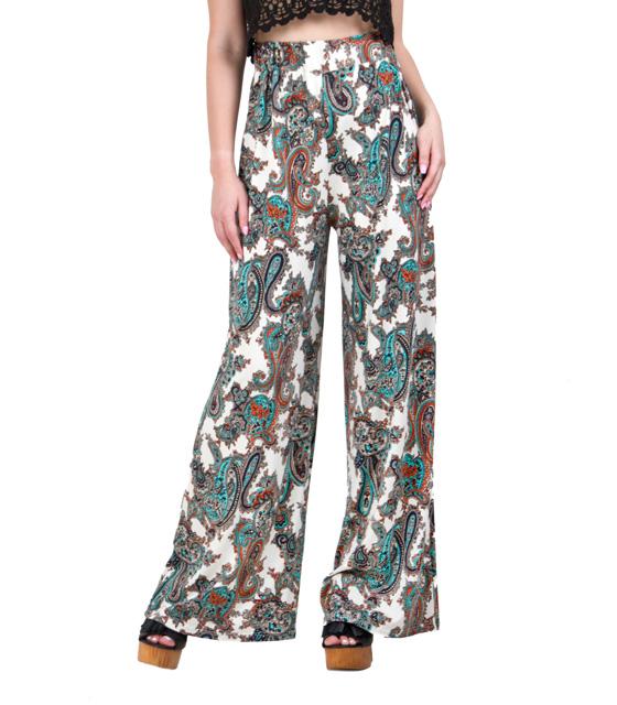 Boho παντελόνα μπέζ λαχούρ ρούχα   bottoms   παντελόνια