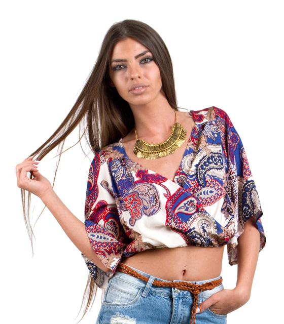 Τοπ κρουαζέ μπεζ λαχούρ ρούχα   μπλούζες   top   τοπάκια   μπουστάκια