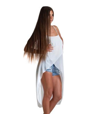 Λευκό τοπ ασύμμετρο με μακριά ουρά ρούχα   μπλούζες   top   τοπάκια   μπουστάκια