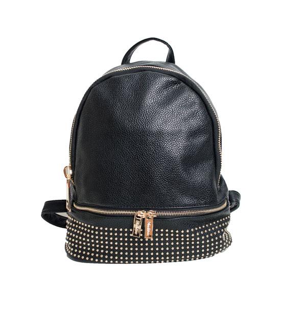 Τσάντα πλάτης με χρυσά τρούκς (Μαύρη) τσάντες   τσάντες πλάτης