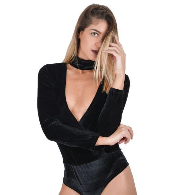Βελουτέ κορμάκι τσόκερ (μαύρο) ρούχα   μπλούζες   top   κορμάκια