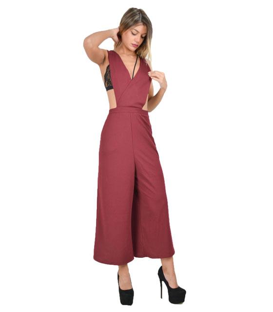 Ολόσωμη φόρμα με ανοίγματα (Μπορντό) ρούχα   ολόσωμες φόρμες