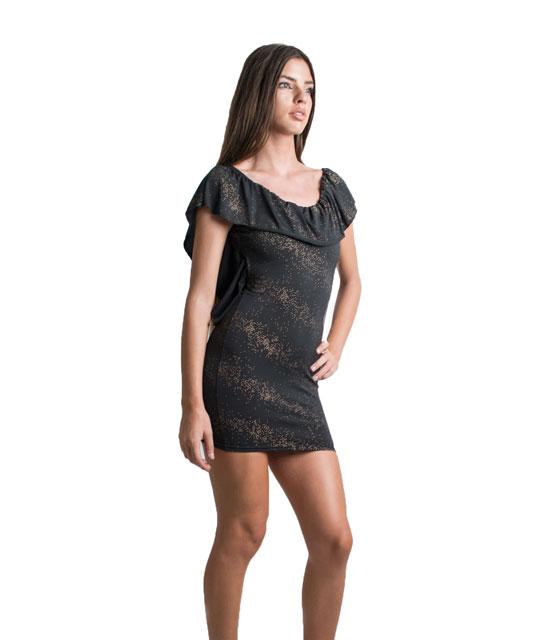 Φόρεμα εξώπλατο μαύρο ελαστικό ρούχα   φορέματα