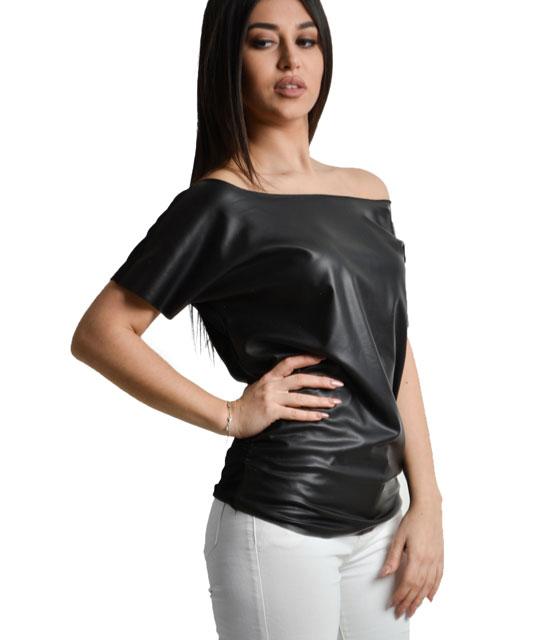 Μπλούζα αμάνικη δερματίνη home   ρούχα   μπλούζες   top   τοπάκια   μπουστάκια