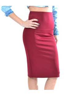 Στενή midi φούστα ψηλόμεση κόκκινη home   ρούχα   bottoms   φούστες