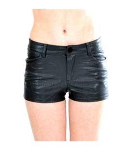 Σορτσάκι πεντάτσεπο μαύρο δερματίνη home   ρούχα   bottoms   σορτσάκια