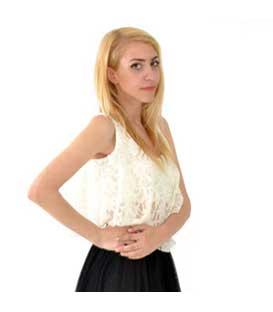 Μπλούζα κοντή εκρού δαντέλα home   ρούχα   μπλούζες   top   τοπάκια   μπουστάκια