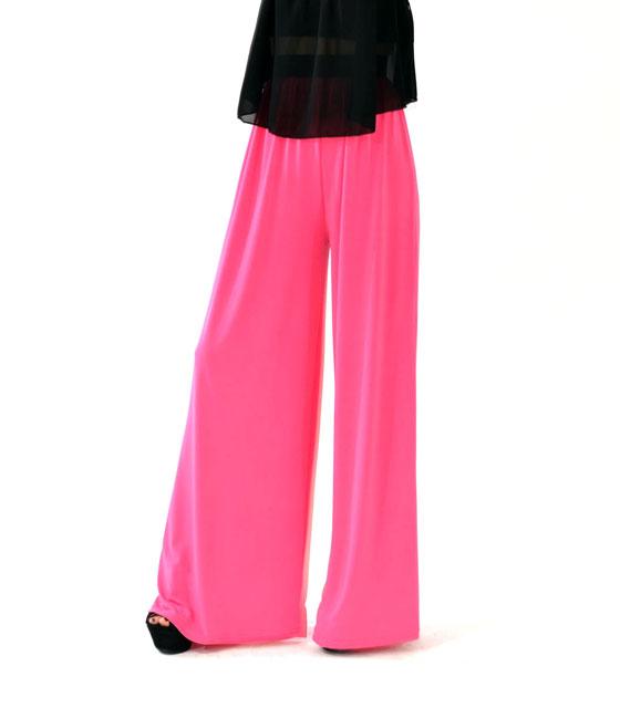 Ψηλόμεση παντελόνα ελαστική ροζ ρούχα   bottoms   παντελόνια