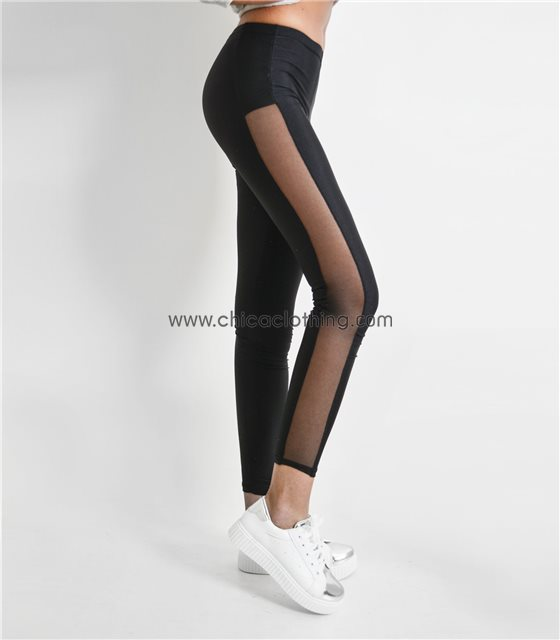 c93ad6f92a39 Γυναικείο κολάν ψηλοκάβαλο σε ύφασμα βισκόζ μαύρο