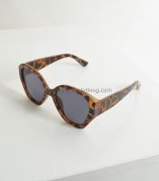 Γυαλιά ηλίου ταρταρούγα κοκκάλινα με μαύρο φακό