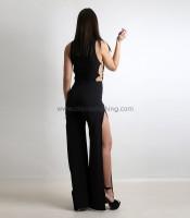 Ολόσωμη φόρμα με κρίκους και ανοίγματα (Μαύρο)