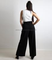 Ολόσωμη φόρμα με βολάν και κρυφό φερμουάρ (Ασπρόμαυρο)