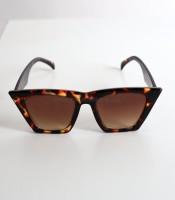 Καφέ γυαλιά ηλίου μάσκα με ταρταρούγα σκελετό