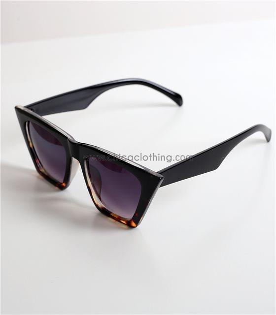 Μαύρα γυαλιά ηλίου μάσκα με μαύρο σκελετό