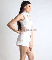 Ολόσωμη φόρμα σορτς ζιβάγκο λευκό