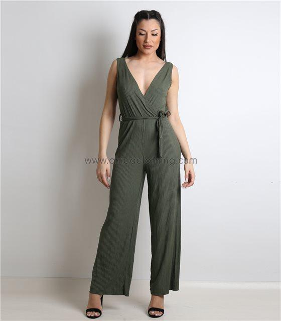 Ολόσωμη φόρμα κρουαζέ ελαστική (Χακί)