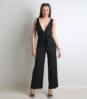 Ολόσωμη φόρμα κρουαζέ ελαστική (Μαύρο)