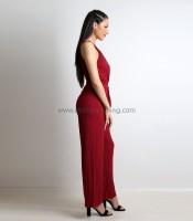 Ολόσωμη φόρμα κρουαζέ ελαστική (Μπορντό)