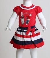 Βρεφικό σετ μπλούζα - φούστα με σχέδιο παπουτσάκια (Κόκκινο)