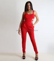 Ολόσωμη φόρμα με ανοίγματα (Κόκκινο)