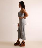 Ολόσωμη φόρμα ριπ τιράντα (Γκρι)