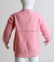 Βρεφική ζακέτα με πέρλες (Ροζ)