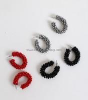 Ασημί σκουλαρίκια με στράς
