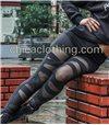 Κολάν ψηλοκάβαλο μαύρο με σχισίματα