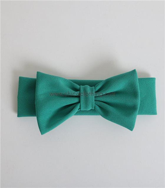 Παιδική κορδέλα με φιόγκο απλή (Πράσινο)