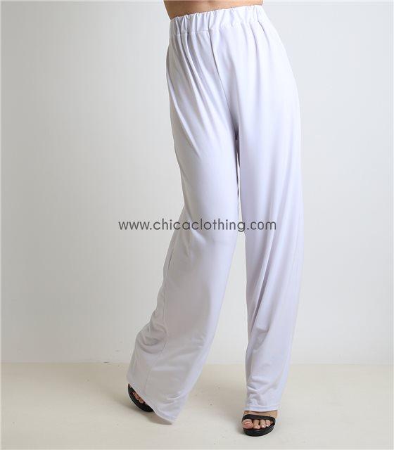 Παντελόνα ψηλόμεση λευκή