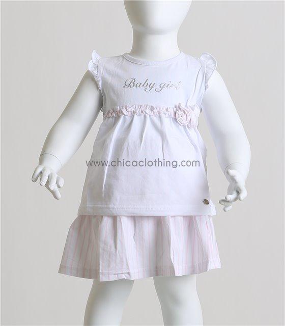 Βρεφικό σετ μπλούζα - φούστα βρακάκι