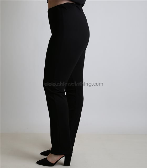 Παντελόνι ελαστικό με λάστιχο στην μέση (Μαύρο)