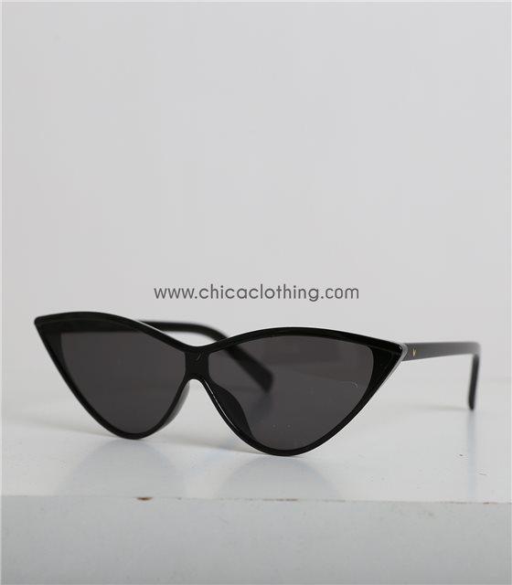 Γυαλιά Cat-Eye μαύρα οβάλ και μαύρο φακό