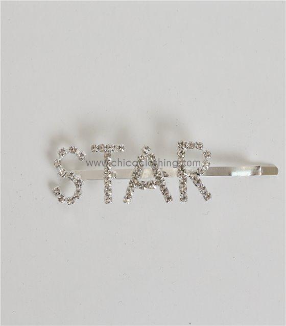 Τσιμπιδάκια μαλλιών με στρας ''STAR''