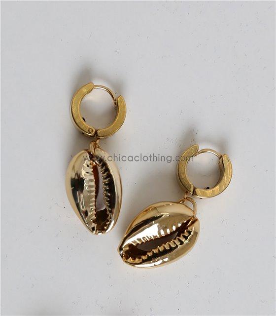 Χρυσά σκουλαρίκια κοχύλι
