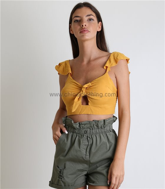 aa4ac978fc2 Crop Top – Τοπ Μπλουζάκια – Μπουστάκια – Με Δαντέλα - Chica Clothing