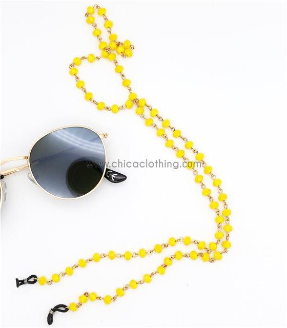 Αλυσίδα γυαλιών με χάντρες (Κίτρινο)