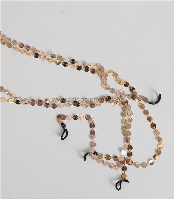 Αλυσίδα γυαλιών με μικρά φλουριά (Χρυσό)